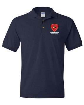 "3rd Marine Division ""Vietnam"" Embroidered Cotton Polo Shirt"