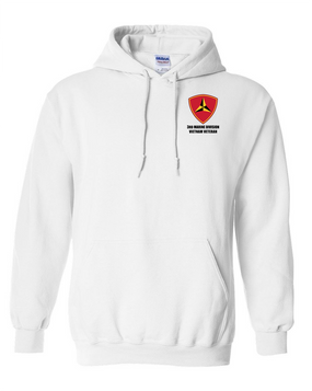 "3rd Marine Division ""Vietnam"" Embroidered Hooded Sweatshirt"