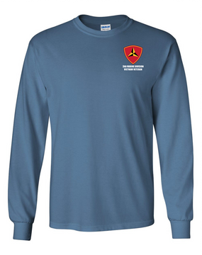 "3rd Marine Division ""Vietnam"" Long-Sleeve Cotton T-Shirt"