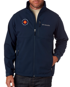 "4th Marine Division ""Fighting Fourth"" -C-Embroidered Columbia Ascender Soft Shell Jacket"