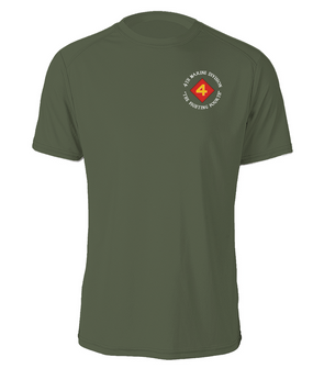 "4th Marine Division ""Fighting Fourth""-C-  Cotton Shirt"