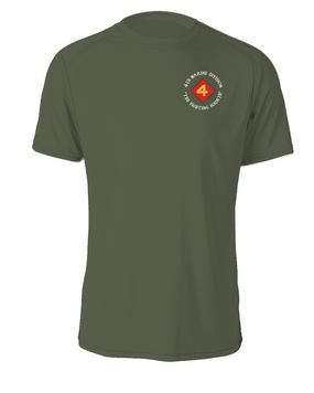 "4th Marine Division ""Fighting Fourth""-C-  Cotton Shirt"