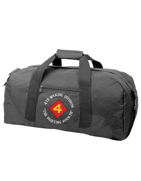 "4th Marine Division ""Fighting Fourth""-C-  Embroidered Duffel Bag"