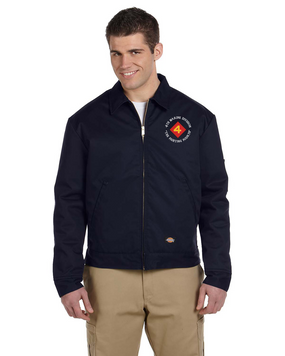 "4th Marine Division ""Fighting Fourth""-C-  Embroidered Dickies 8 oz. Lined Eisenhower Jacket"