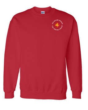"4th Marine Division ""Fighting Fourth""-C-  Embroidered Sweatshirt"