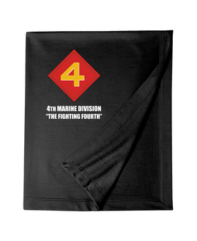 "4th Marine Division ""Mighty Fourth""  Embroidered Dryblend Stadium Blanket"