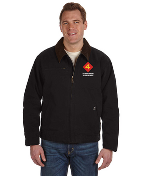 "4th Marine Division ""Fighting Fourth"" Embroidered DRI-DUCK Outlaw Jacket"