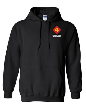 "4th Marine Division ""Fighting Fourth""  Embroidered Hooded Sweatshirt"