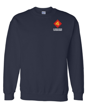 "4th Marine Division ""Fighting Fourth"" Embroidered Sweatshirt"