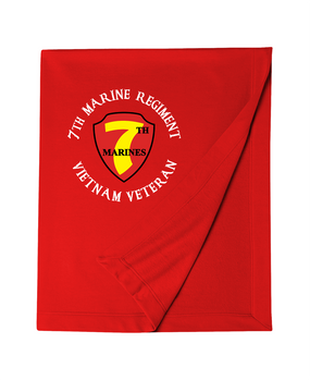 "7th Marine Regiment ""Vietnam"" -C- Embroidered Dryblend Stadium Blanket"