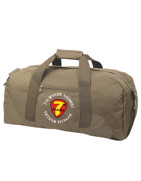 "7th Marine Regiment ""Vietnam"" -C-  Embroidered Duffel Bag"