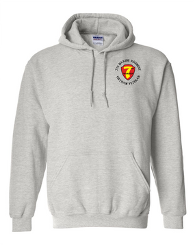 "7th Marine Regiment ""Vietnam"" -C- Embroidered Hooded Sweatshirt"