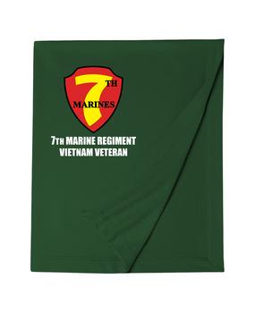 """7th Marine Regiment """"Vietnam"""" Embroidered Dryblend Stadium Blanket"""