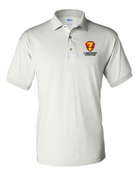 "7th Marine Regiment ""Vietnam""  Embroidered Cotton Polo Shirt"