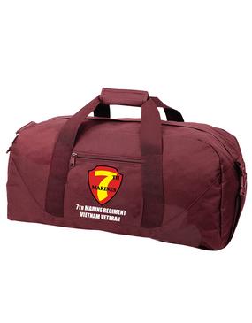 "7th Marine Regiment ""Vietnam"" Embroidered Duffel Bag"