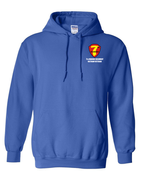 "7th Marine Regiment ""Vietnam"" Embroidered Hooded Sweatshirt"