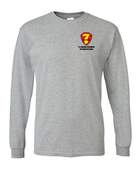 "7th Marine Regiment ""Vietnam"" Long-Sleeve Cotton T-Shirt"