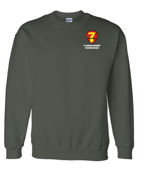 "7th Marine Regiment ""Vietnam"" Embroidered Sweatshirt"