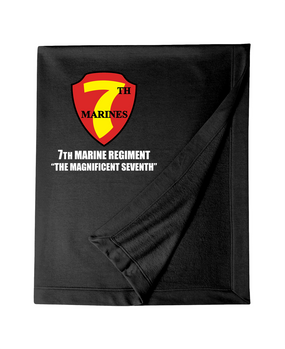 7th Marine Regiment Embroidered Dryblend Stadium Blanket