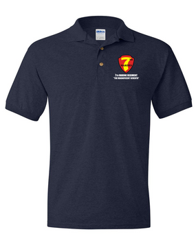 7th Marine Regiment Embroidered Cotton Polo Shirt