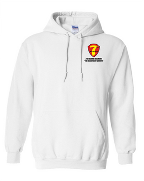 7th Marine Regiment Embroidered Hooded Sweatshirt