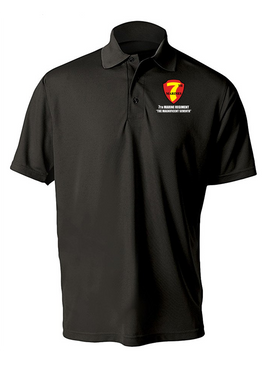 7th Marine Regiment Embroidered Moisture Wick Polo Shirt