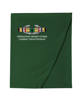 "Operation Desert Storm ""CIB"" Embroidered Dryblend Stadium Blanket"