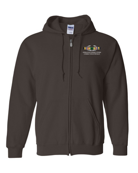 "Operation Desert Storm ""CIB"" Embroidered Hooded Sweatshirt with Zipper"