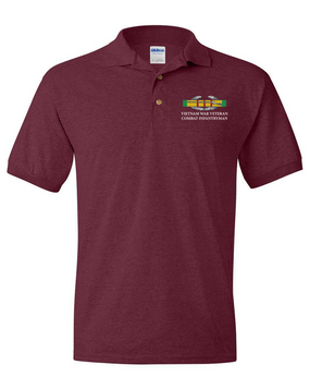 "Vietnam ""CIB"" Embroidered Cotton Polo Shirt"