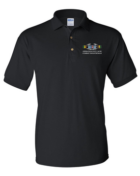 "Operation Just Cause (A)  ""CIB"" Embroidered Cotton Polo Shirt"