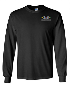 "Operation Just Cause (A) ""CIB"" Long-Sleeve Cotton T-Shirt"