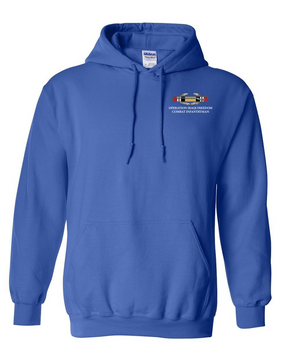 "Operation Iraqi Freedom OIF  ""CIB"" Embroidered Hooded Sweatshirt"