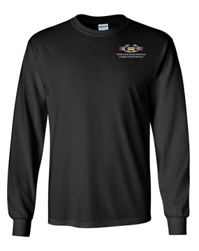 "Operation Iraqi Freedom OIF ""CIB"" Long-Sleeve Cotton T-Shirt"