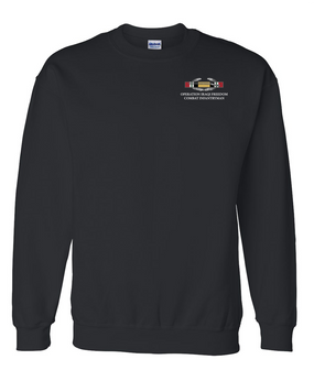 "Operation Iraqi Freedom OIF  ""CIB"" Embroidered Sweatshirt"