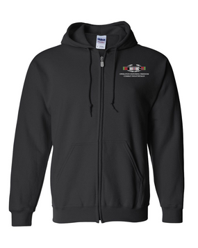 "Operation Enduring Freedom OEF""CIB"" Embroidered Hooded Sweatshirt with Zipper"