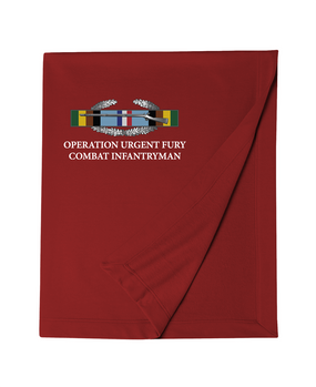 "Operation Urgent Fury OUF  ""CIB"" Embroidered Dryblend Stadium Blanket"
