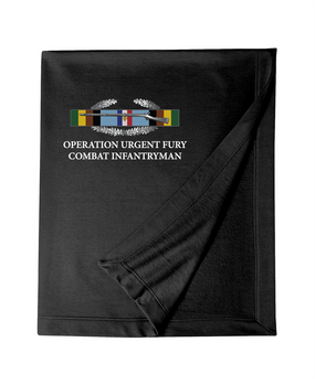 "Operation Urgent Fury (A)   ""CIB"" Embroidered Dryblend Stadium Blanket"