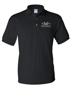 "Operation Urgent Fury ""CIB"" Embroidered Cotton Polo Shirt"
