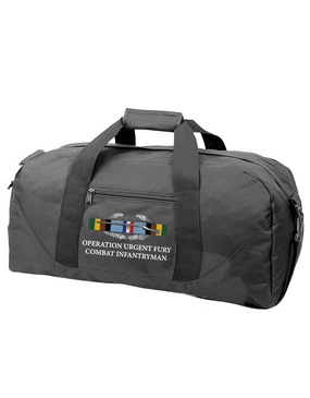 "Operation Urgent Fury (A) OUF ""CIB"" Embroidered Duffel Bag"