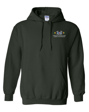 "Operation Urgent Fury OUF""CIB"" Embroidered Hooded Sweatshirt"