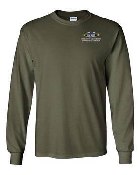 "Operation Urgent Fury OUF""CIB"" Long-Sleeve Cotton T-Shirt"