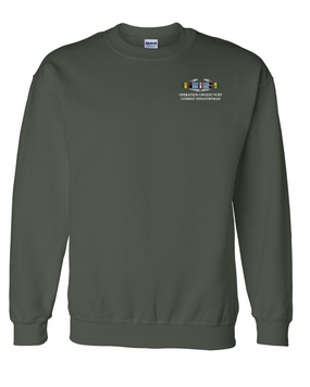 "Operation Urgent Fury OUF""CIB"" Embroidered Sweatshirt"