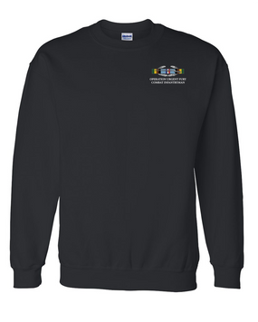 "Operation Urgent Fury (A)  OUF""CIB"" Embroidered Sweatshirt"