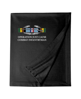 "Operation Just Cause  ""CIB"" Embroidered Dryblend Stadium Blanket"