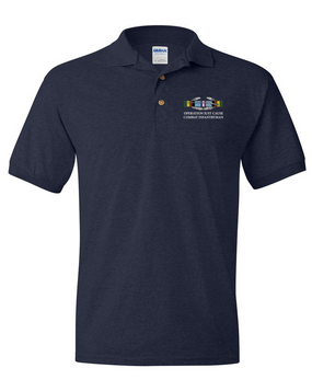 "Operation Just Cause  ""CIB"" Embroidered Cotton Polo Shirt"
