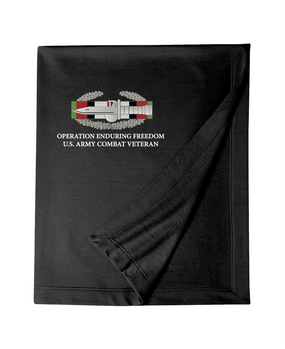 Operation Enduring Freedom OEF -CAB Embroidered Dryblend Stadium Blanket