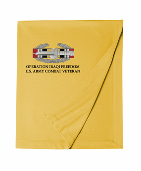 Operation Iraqi Freedom OIF -CAB Embroidered Dryblend Stadium Blanket