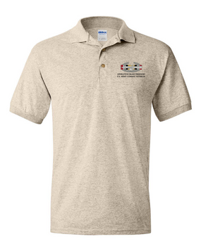"Operation Iraqi Freedom OIF ""CAB"" Embroidered Cotton Polo Shirt"