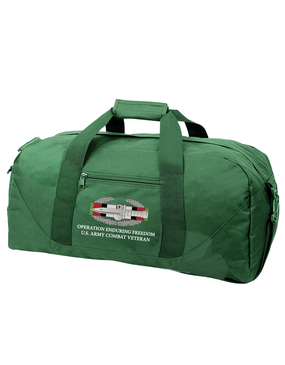 "Operation Iraqi Freedom OIF ""CAB"" Embroidered Duffel Bag"