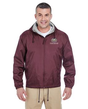 "Desert Storm ""Combat Medical Badge"" Embroidered Fleece-Lined Hooded Jacket"